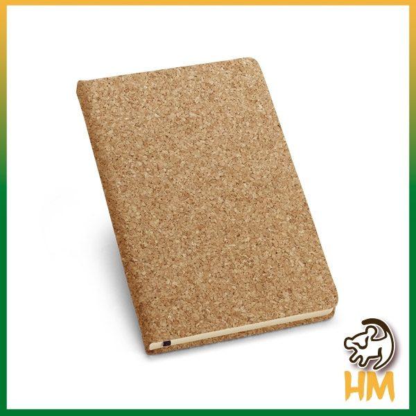 Caderno cortiça com porta esferográfica