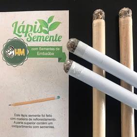Lápis Personalizado com Semente