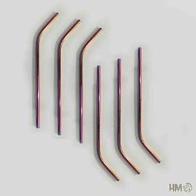 Canudo de Metal Colorido