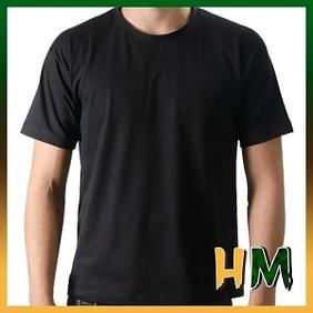 Camiseta de Algodão Penteado Preta