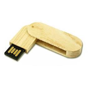 Pen Drive 4 GB Ecológico Giratório Personalizado