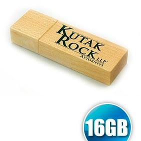 Pendrive 16GB de Madeira Personalizado
