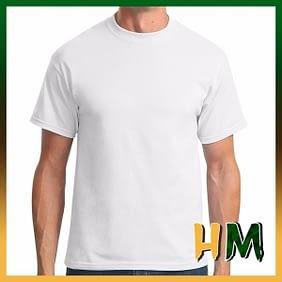 Camiseta de Algodão Penteado Branco