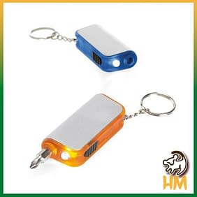 Chaveiro LED e esferográfica