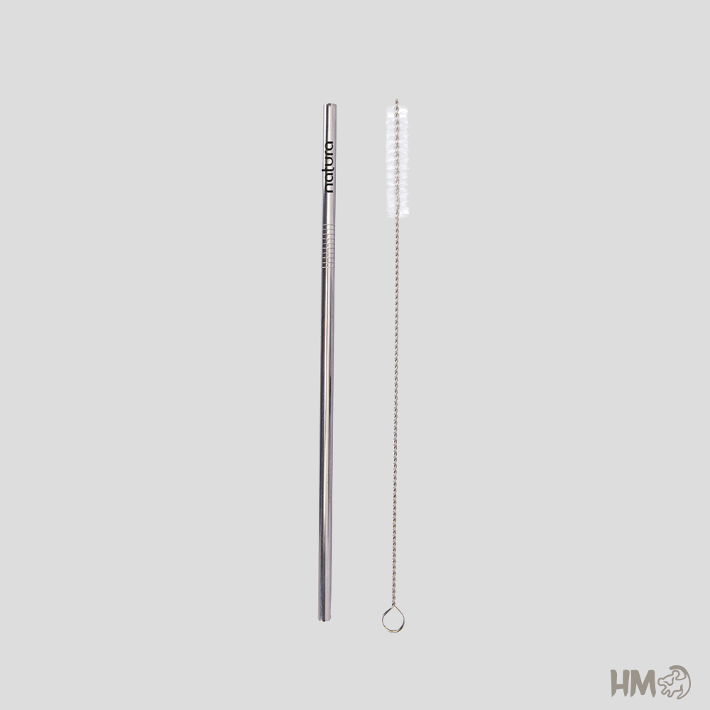 Canudo Metal Personalizado Curvado