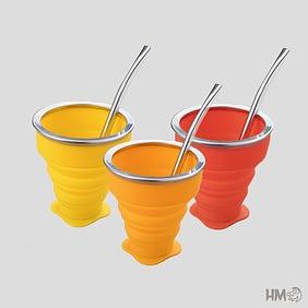 copo retratil silicone brinde